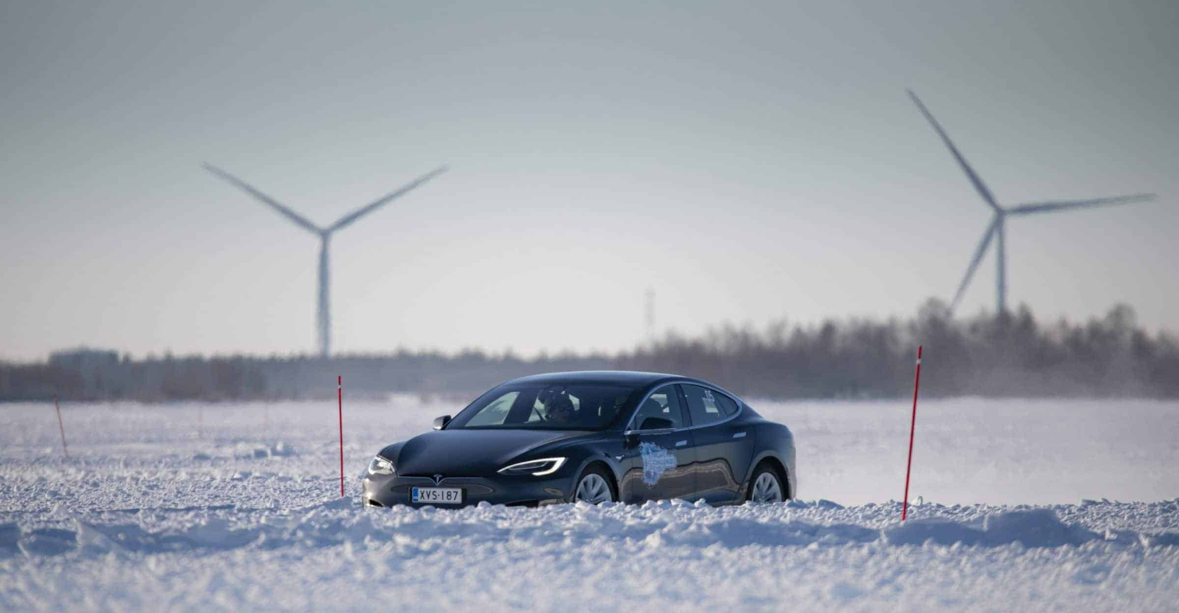 Tesla Model S Wind Energy Finland