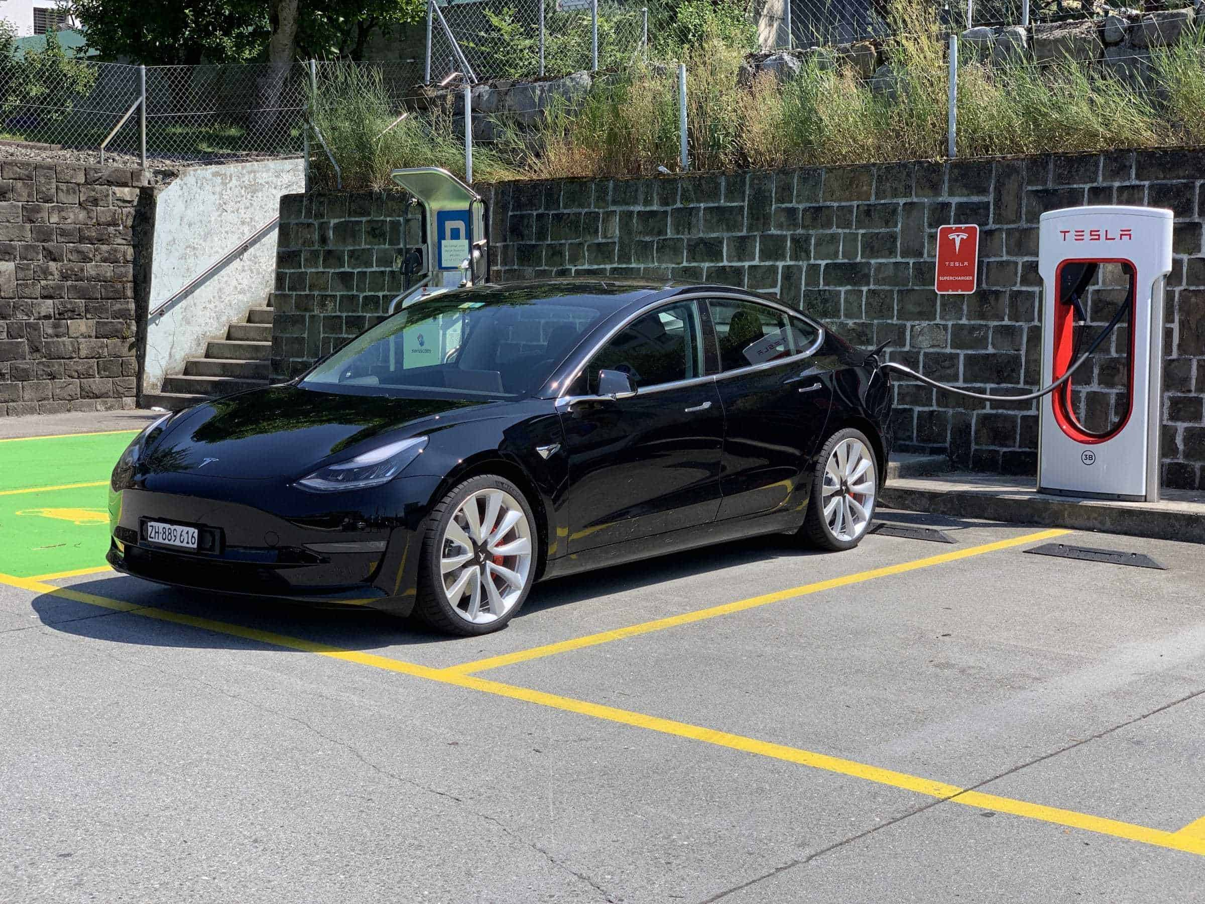 Tesla Model 3 Supercharger Plugged In Techgarage
