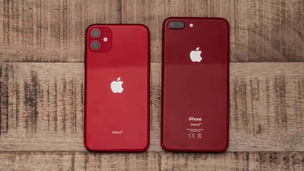Apple iPhone 11 and iPhone 8 Product Red