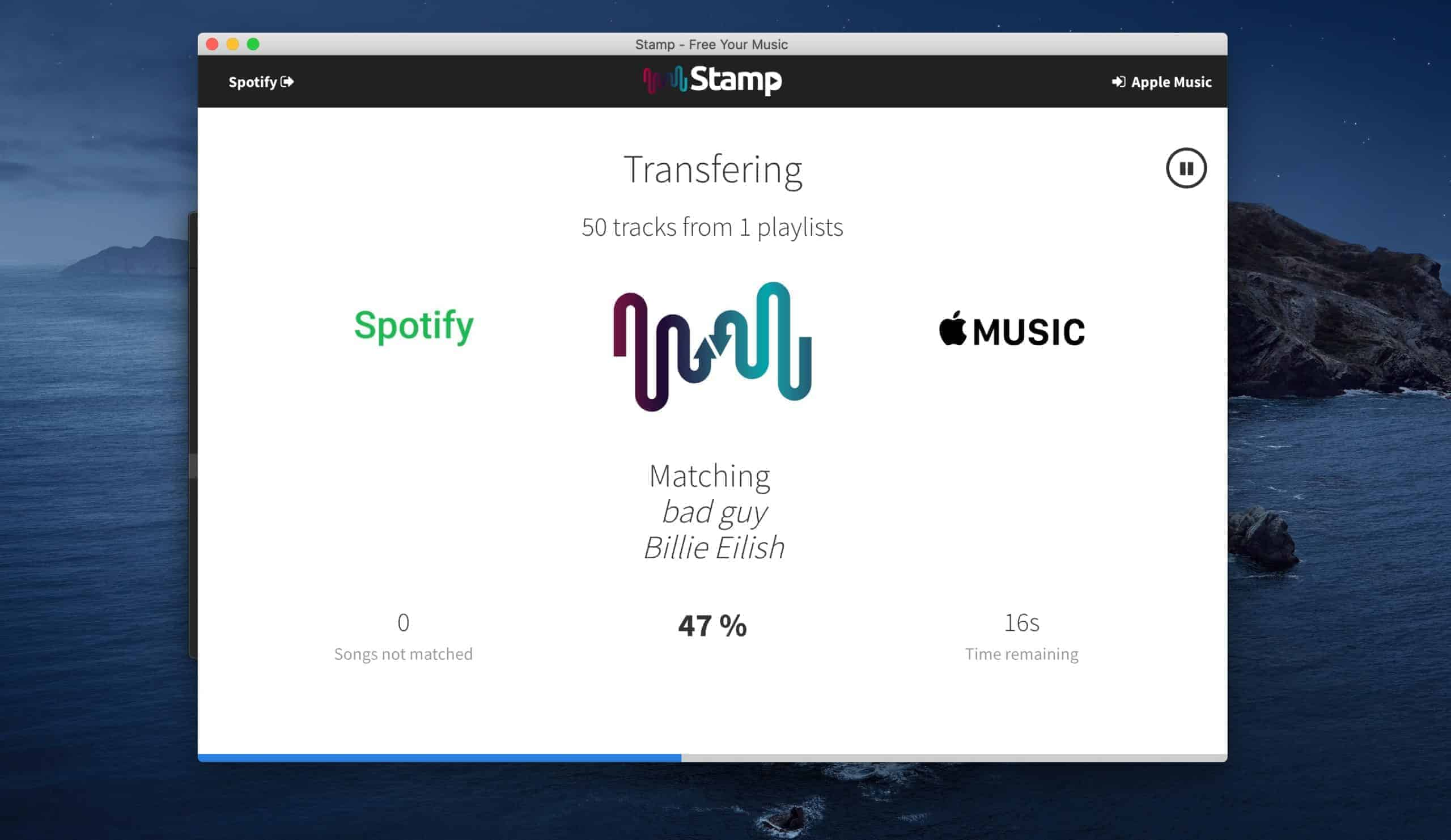 STAMP Playlisten Übertragen Spotify zu Apple Music