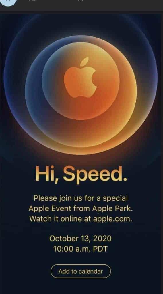 Apple iPhone 12 Event Einladung
