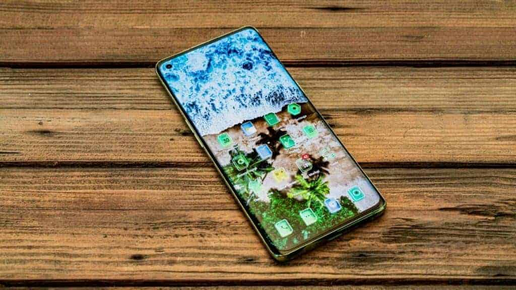 OPPO Reno4 Pro Green Glitter Screen