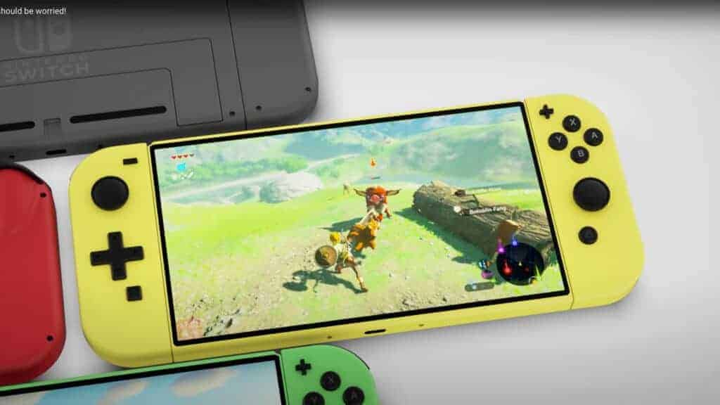 Nintendo Switch 2 Pro Gelb Konzept