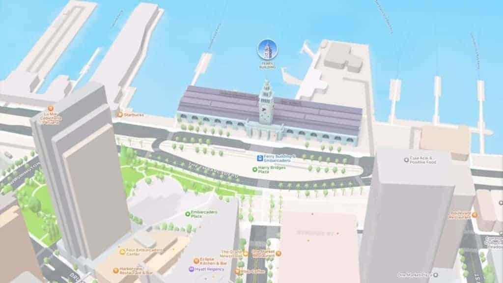 Apple Maps OS 15 San Francisco 3D