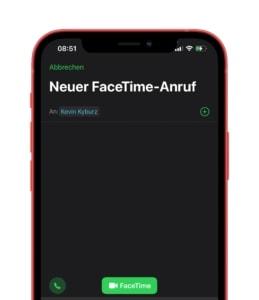 iOS 15 FaceTime Screenshare Anruf starten